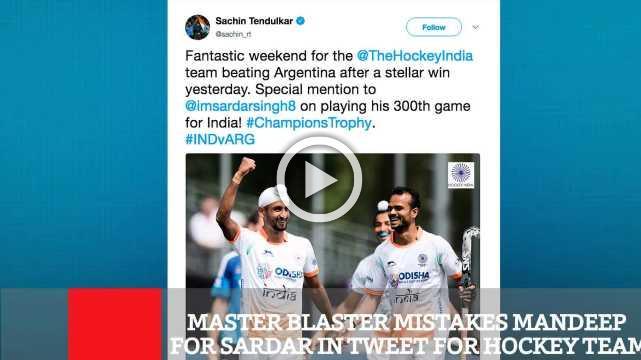Master Blaster Mistakes Mandeep For Sardar In Tweet For Hockey Team