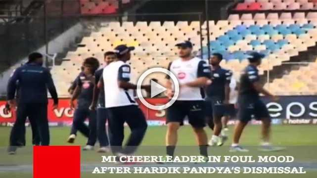 MI Cheerleader In Foul Mood After Hardik Pandya's Dismissal