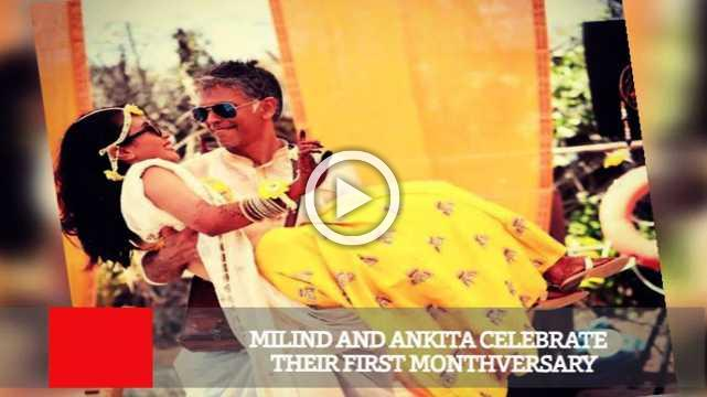 Milind And Ankita Celebrate Their First Monthversary