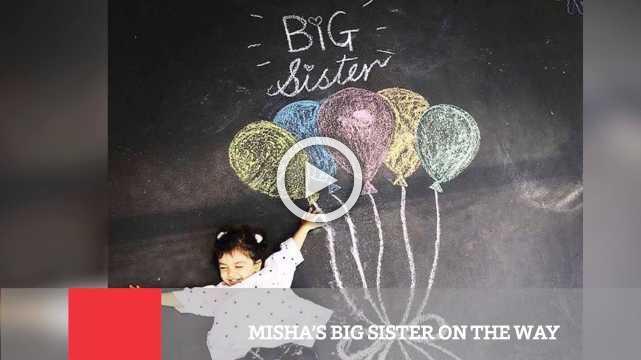 Misha's Big Sister On The Way