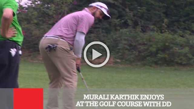 Murali Karthik Enjoys At The Golf Course With DD