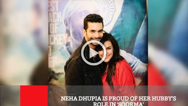 Neha Dhupia Is Proud Of Her Hubby's Role In 'Soorma'