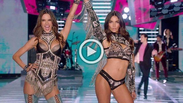 The five top models, stars of the Victoria's Secret fashion show.