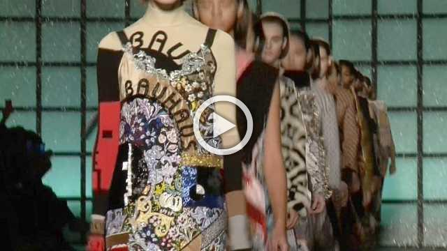 Mary Katrantzou Show - Women's Collection Autumn/Winter 2018/19 in London (with interview)