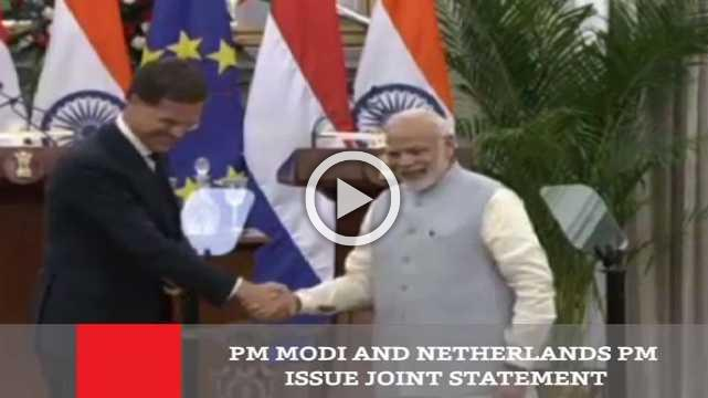 PM Modi And Netherlands PM Issue Joint Statement