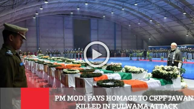 PM Modi Pays Homage To CRPF Jawans Killed In Pulwama Attack