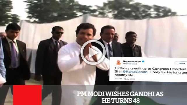 PM Modi Wishes Gandhi As He Turns 48