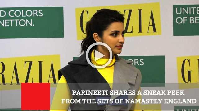 Parineeti Shares A Sneak Peek From The Sets Of Namastey England