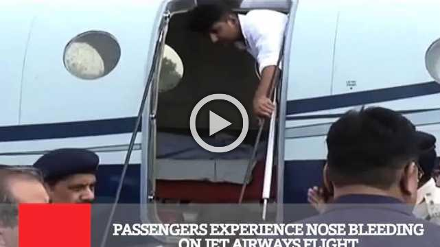 Passengers Experience Nose Bleeding On Jet Airways Flight