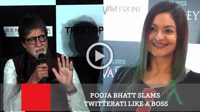 Pooja Bhatt Slams Twitterati Like A Boss