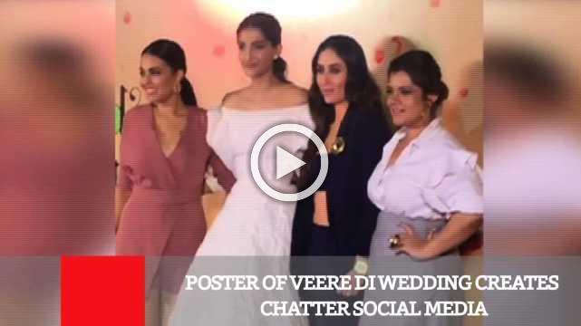 Poster Of Veere Di Wedding Creates Chatter Social Media