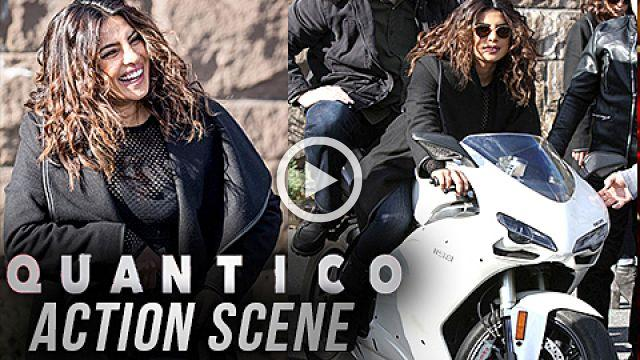 Priyanka Chopra Shooting Deadly Bike Stunt and Action Scene For Quantico Priyanka Chopra New Curls