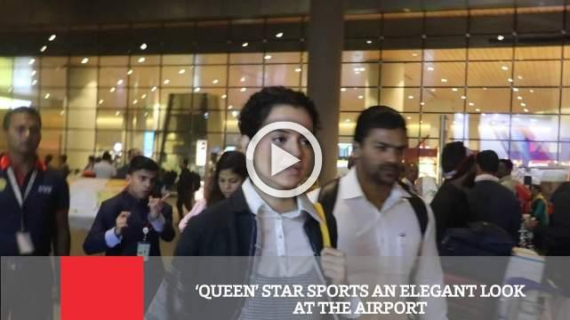 'Queen' Star Sports An Elegant Look At The Airport