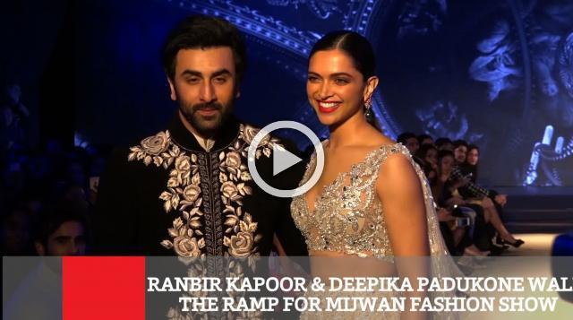 Ranbir Kapoor & Deepika Padukone Walk The Ramp For Mijwan Fashion Show