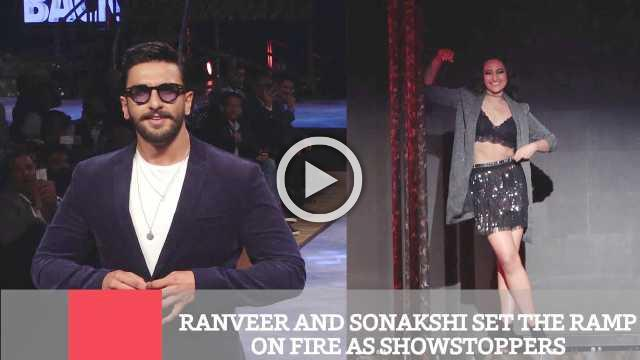 Ranveer And Sonakshi Set The Ramp On Fire As Showstoppers