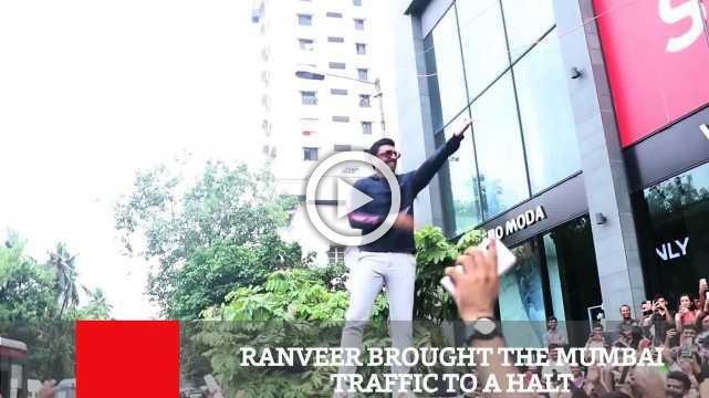 Ranveer Brought The Mumbai Traffic To A Halt