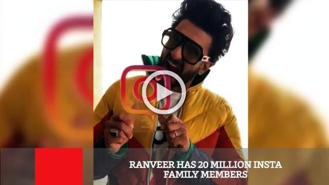 Ranveer Has 20 Million Insta Family Members