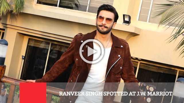 Ranveer Singh Spotted At J.W. Marriot
