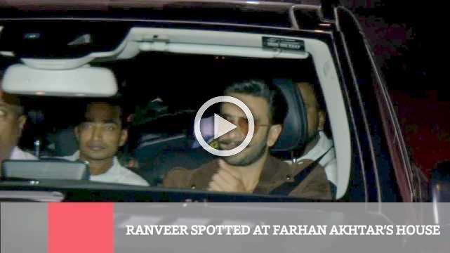 Ranveer Spotted At Farhan Akhtar's House