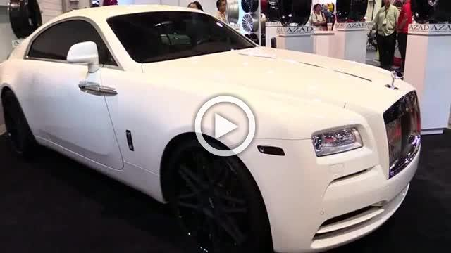 Rolls Royce Wraith with Azad Wheels Exterior Walkaround