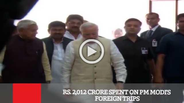 Rs  2,012 Crore Spent On PM Modi's Foreign Trips