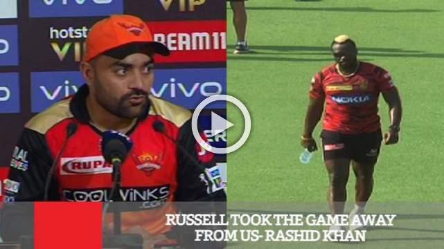 Russell Took The Game Away From Us- Rashid Khan