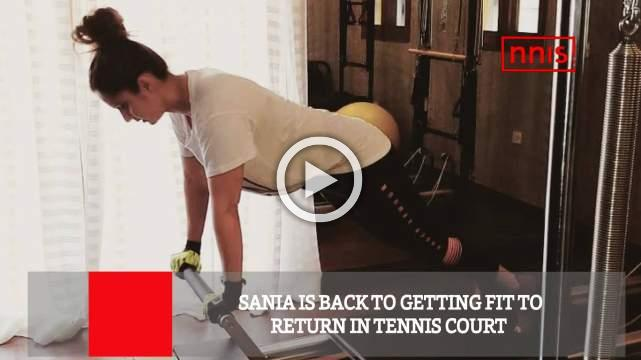 Sania Is Back To Getting Fit To Return In Tennis Court