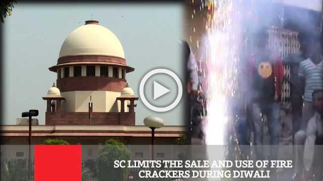 SC Limits The Sale And Use Of Fire Crackers During Diwali