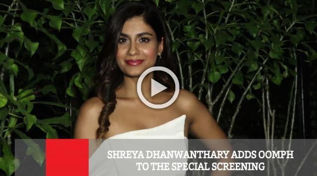 Shreya Dhanwanthary Adds Oomph To The Special Screening