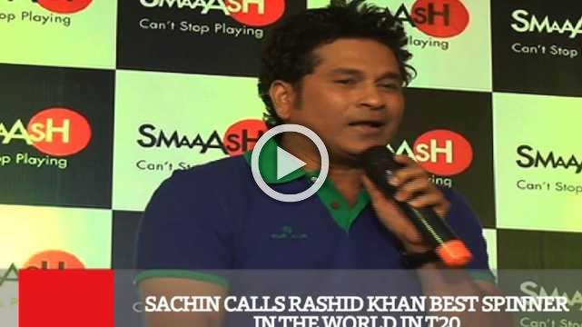 Sachin Calls Rashid Khan Best Spinner In The World In T20
