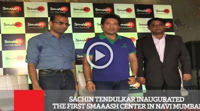Sachin Tendulkar Inaugurated The First Smaaash Center In Navi Mumbai