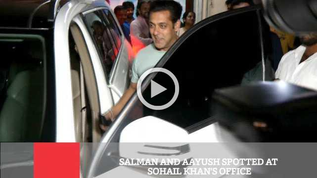 Salman And Aayush Spotted At  Sohail Khan's Office