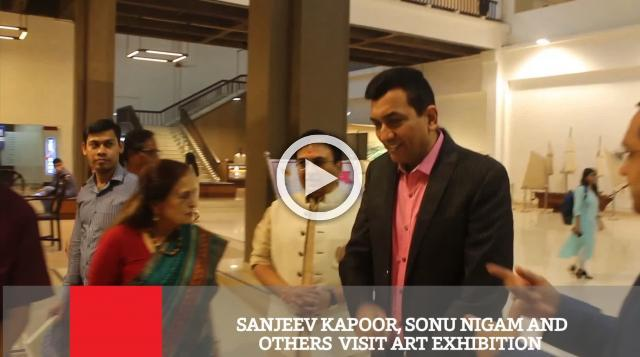 Sanjeev Kapoor, Sonu Nigam And Others  Visit Art Exhibition