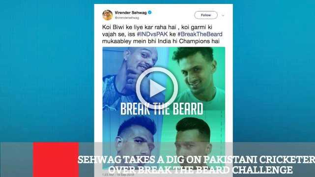 Sehwag Takes A Dig On Pakistani Cricketers Over Break The Beard Challenge