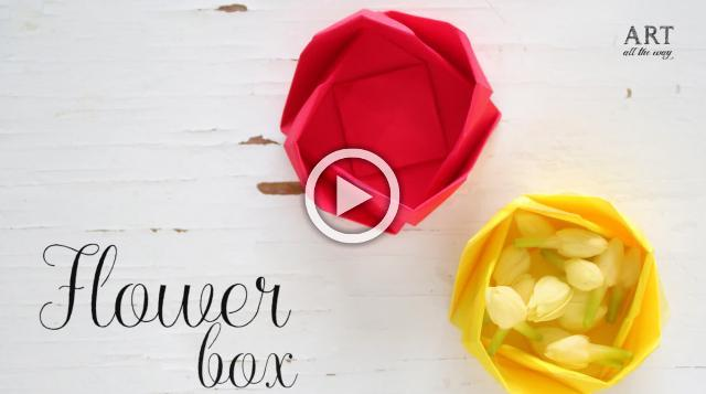 DIY Paper Flower Box