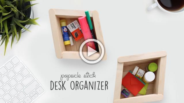 DIY Popsicle Stick Organizer