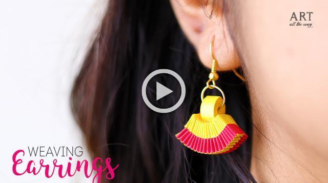 Paper Weaving Earrings