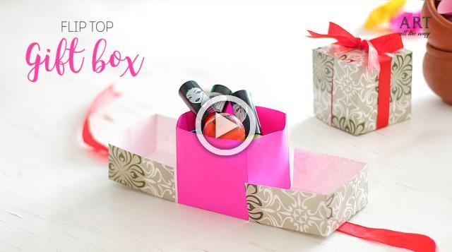 Diy tiny paper flowers diy flip top gift box mightylinksfo