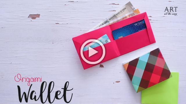 How to make a Paper Wallet | Fathers Day Gift Ideas | Paper Craft