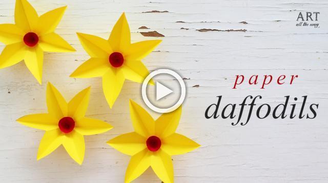 DIY Paper Daffodils Flowers