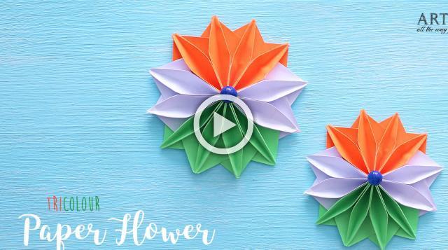 Tricolour Paper Flowers | Flower Making | DIY