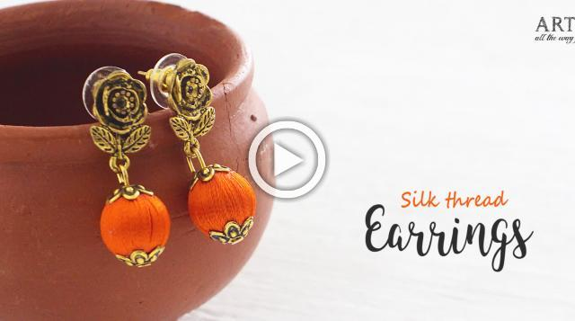 DIY Silk Thread Earrings | Jewelry making | Festive Jewellery