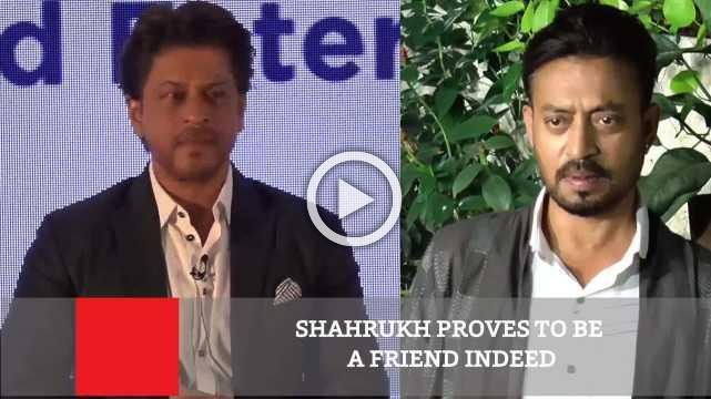 Shahrukh Proves To Be A Friend Indeed