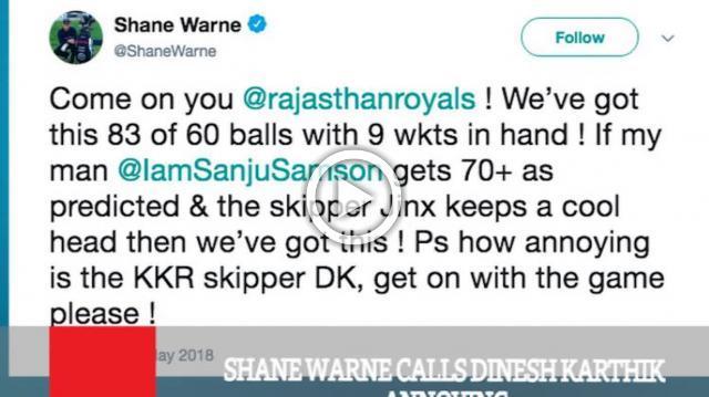 Shane Warne Calls Dinesh Karthik Annoying
