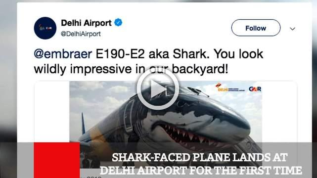 Shark Faced Plane Lands At Delhi Airport For The First Time