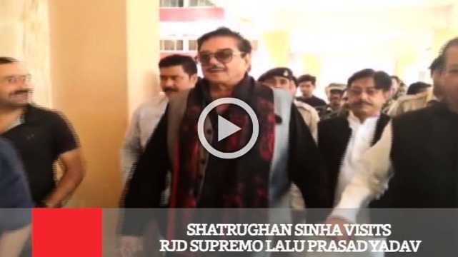 Shatrughan Sinha Visits RJD Supremo Lalu Prasad Yadav