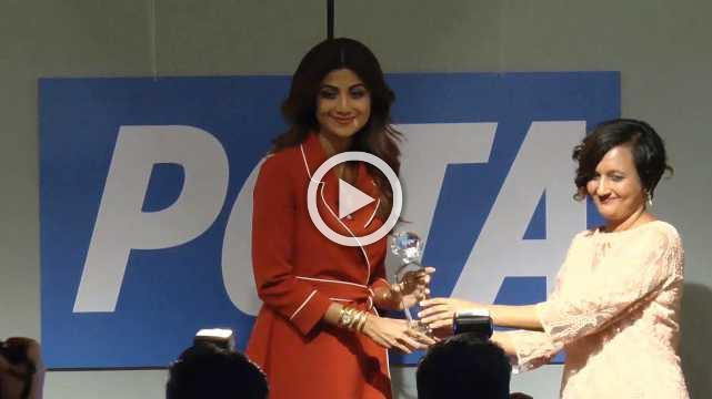 Shilpa Shetty Wins Peta's 'Hero To Animals' Award
