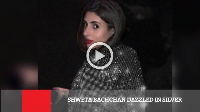 Shweta Bachchan Dazzled In Silver