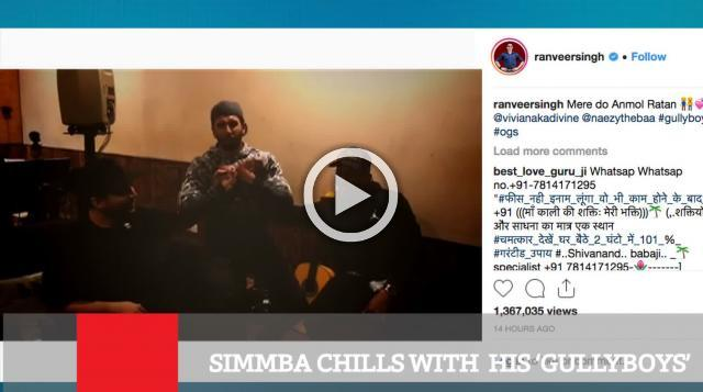 Simmba Chills With  His 'Gullyboys'