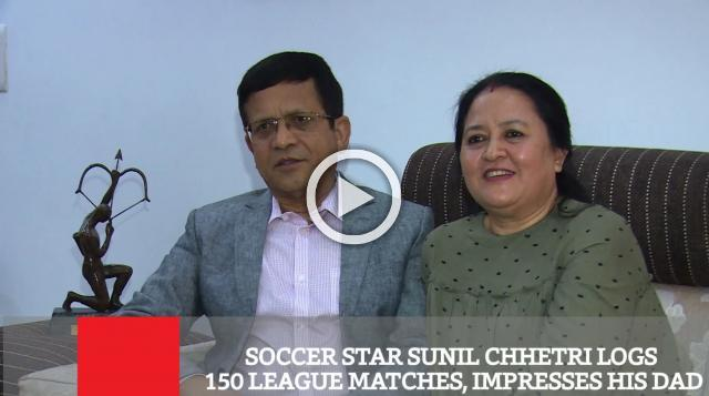 Soccer Star Sunil Chhetri Logs 150 League Matches, Impresses His Dad
